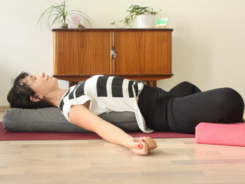 final menstruation yoga reclining